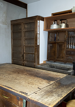 The kitchen of the main house, where Tanizaki himself selected the best of the day's catch from the fishmonger.