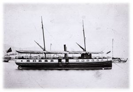 Hakusuimaru, a steamship purchased from Britain